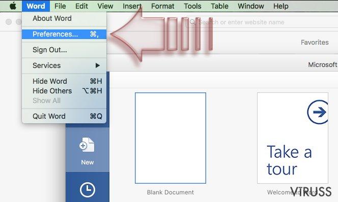 Kā atspējot makros uz Windows uz Mac OS X? momentuzņēmums