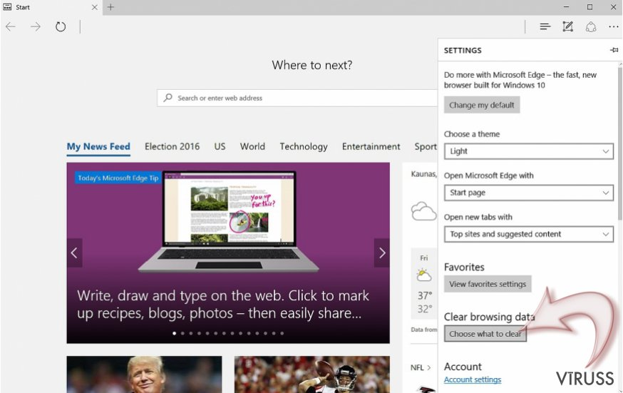 Kā atiestatīt Microsoft Edge? momentuzņēmums