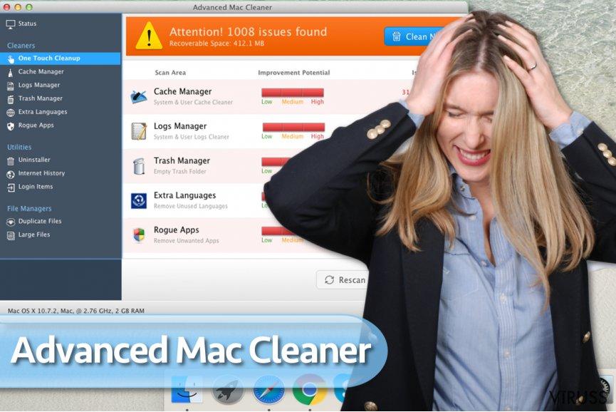 Advanced Mac Cleaner vīruss