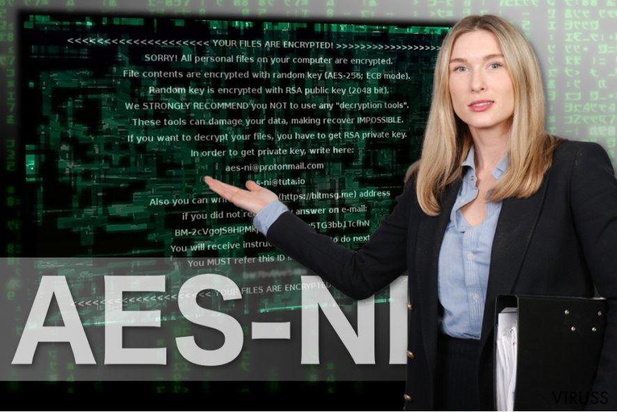 AES-NI izspiedējvīrusa attēls