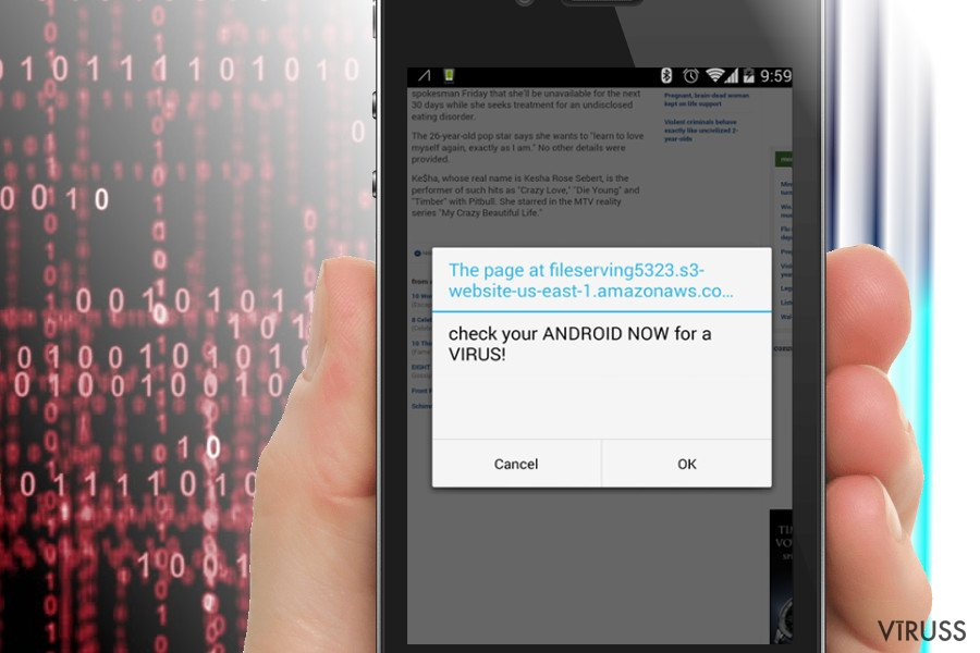 Amazonaws pāradresēšanas Android sistēmā