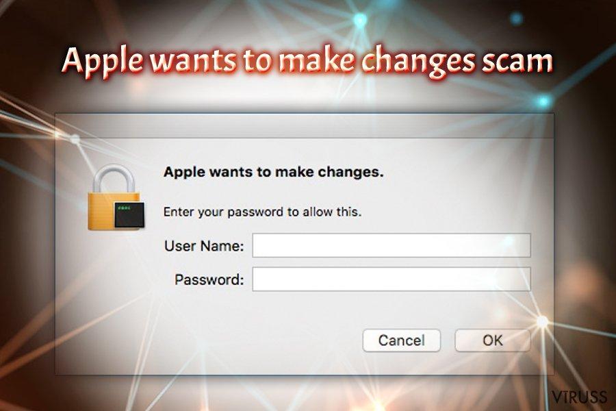 """""""Apple vēlas veikt izmaiņas"""" vīruss"""