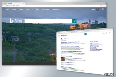 Bing meklētājprogrammas piemērs