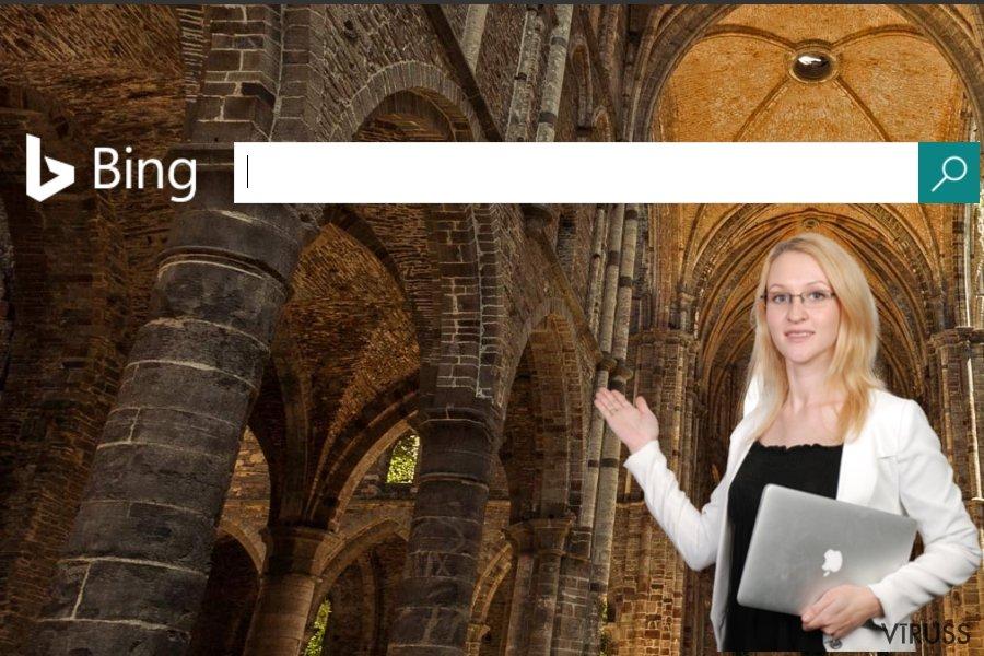 Ekrānšāviņš ar Bing vietni