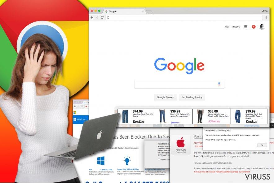 Chrome reklāmprogrammatūras vīruss