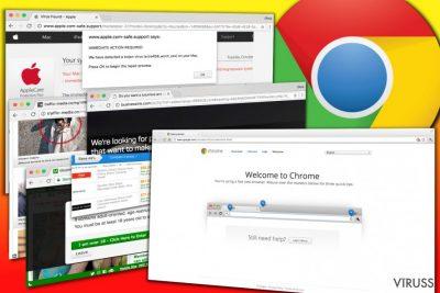 Chrome reklāmprogrammatūras reklāmu piemēri