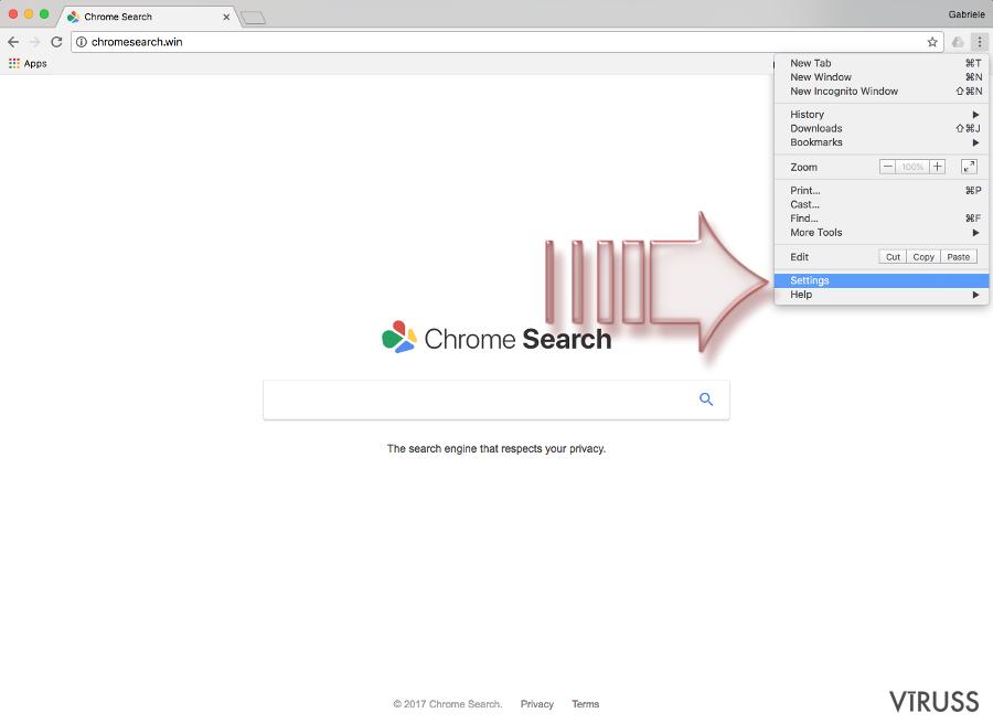 Chromesearch.win vīruss momentuzņēmums