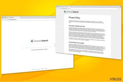 Attēls ar Chromesearch.win vīrusu