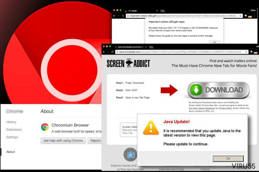 Chroomium Browser izplatītās reklāmas