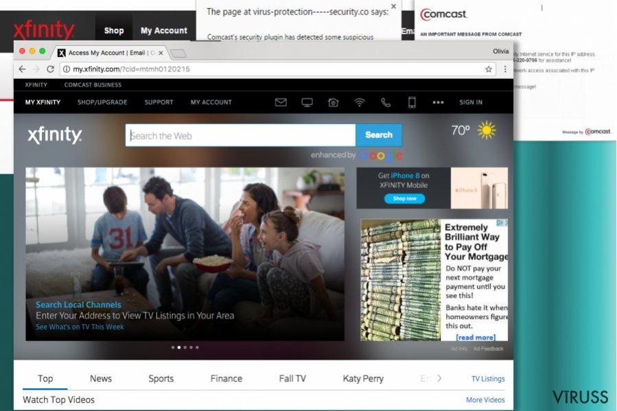 Comcast.net meklētājprogramma