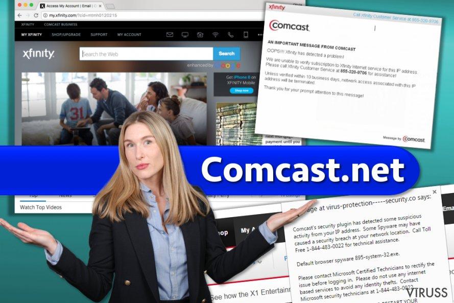 Comcast.net vietne un krāpniecīgās darbības, no kurām jāuzmanās