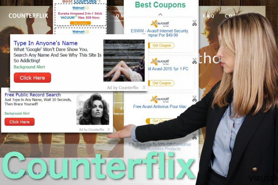 Counterflix reklāmu piemēri