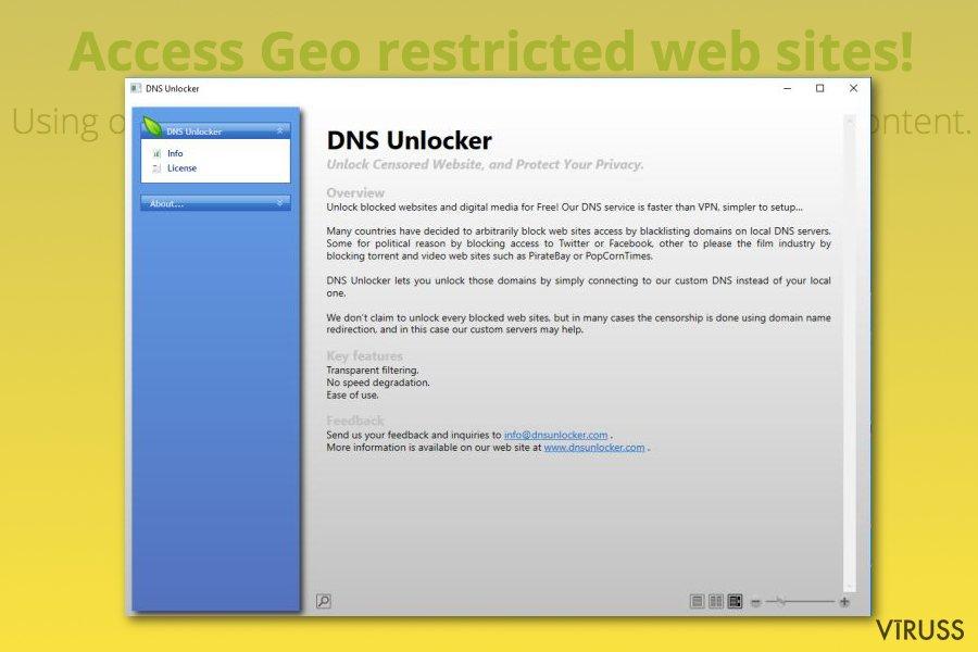 DNS Unlocker reklāmprogramma