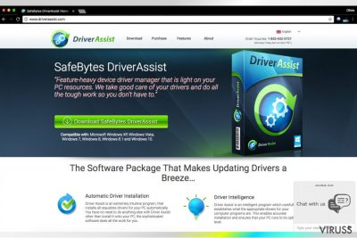 SafeBytes izveidotais Driver Assist