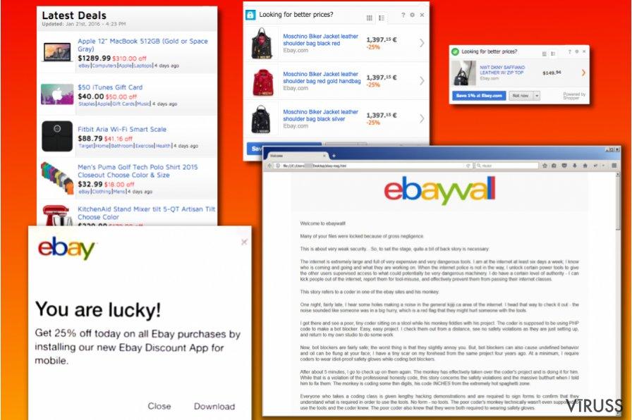 eBay vīrusa veidi