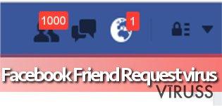 Facebook draudzības uzaicinājuma vīruss momentuzņēmums
