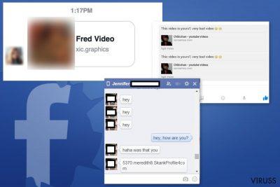 Facebook Message vīrusa piemēri