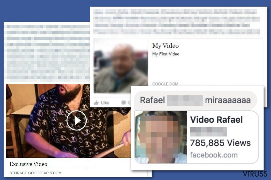 Facebook video vīruss momentuzņēmums