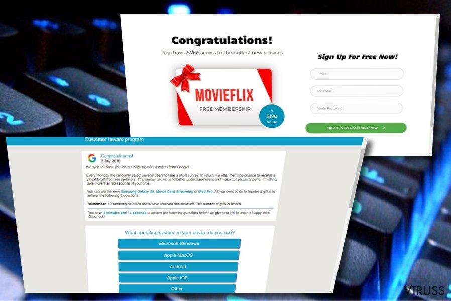 Google Customer Reward Program krāpnieciskā shēma