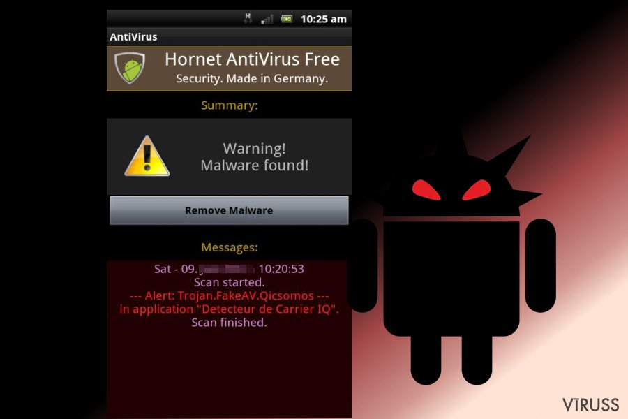 Android vīruss momentuzņēmums
