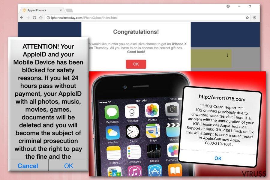 iPhone krāpniecības shēma