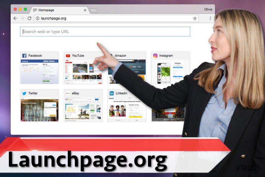 Launchpage.org vīruss