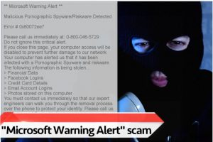 """""""Microsoft Warning Alert"""" tehniskā atbalsta krāpniecības shēma"""