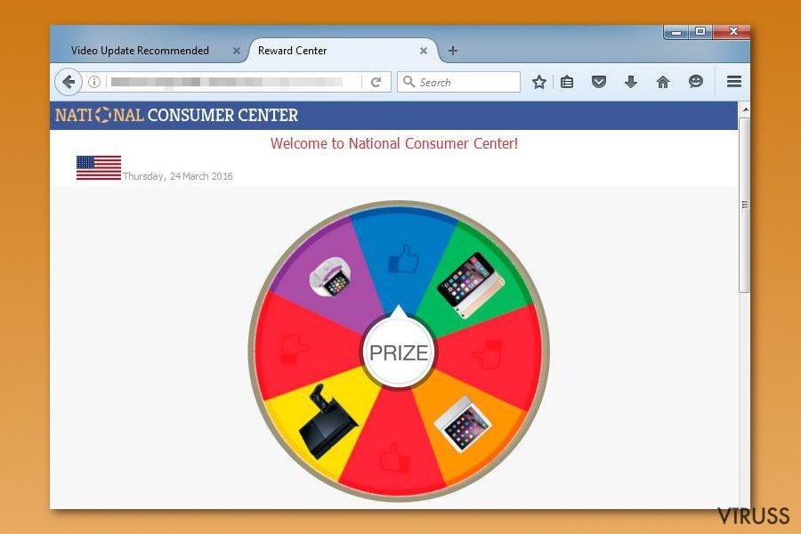 National Consumer Center krāpnieciskā shēma