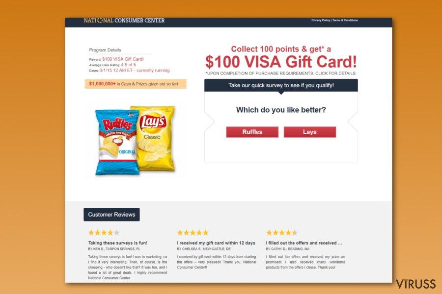 National Consumer Center krāpšana