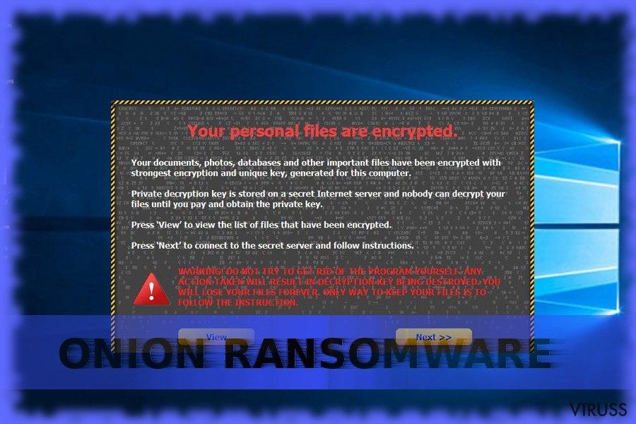 The image illustrating Onion virus