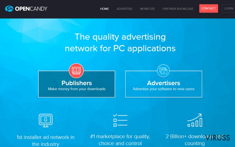 OpenCandy reklāmas momentuzņēmums