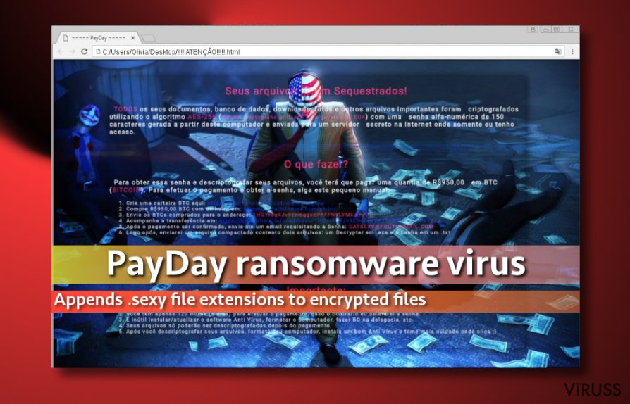 PayDay vīrusa attēls