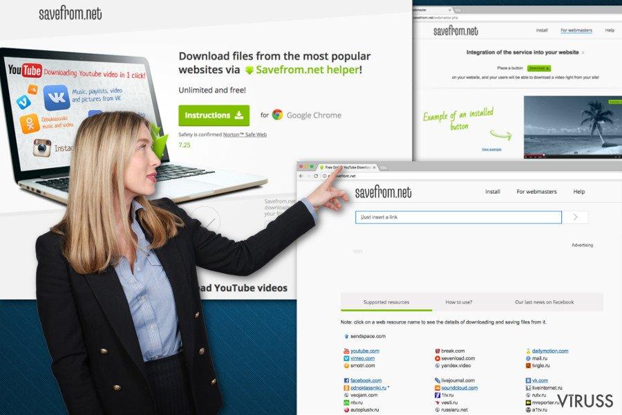 Atēls ar SaveFrom.net palīgu
