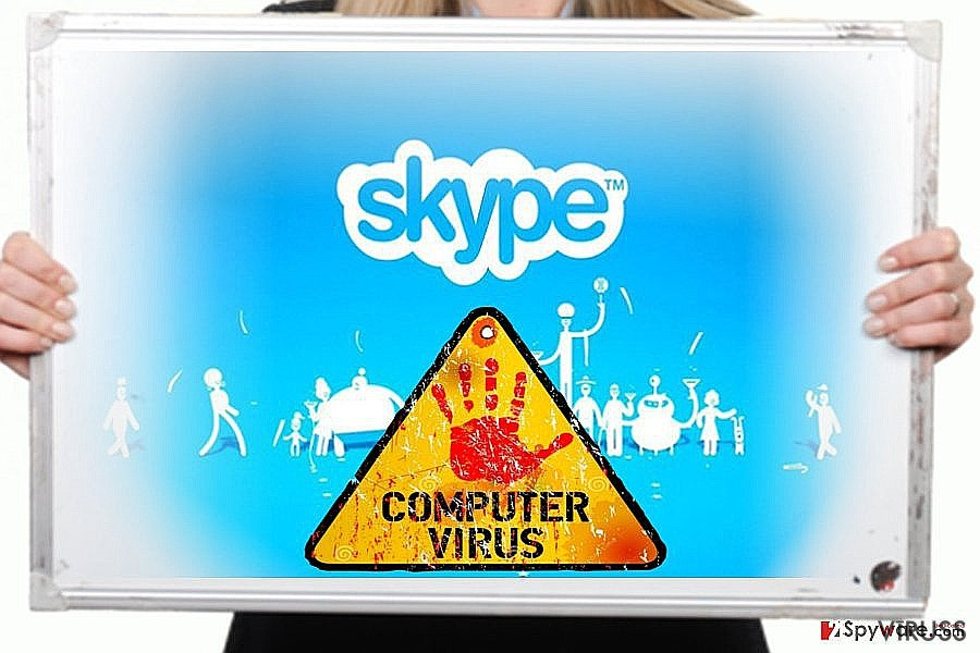 Skype vīrusa attēls