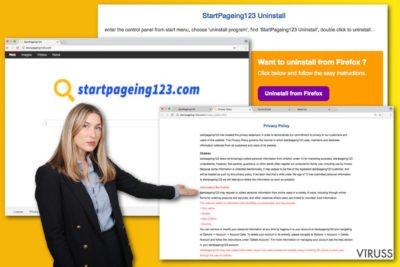 StartPaeging123.com vīrusa attēls