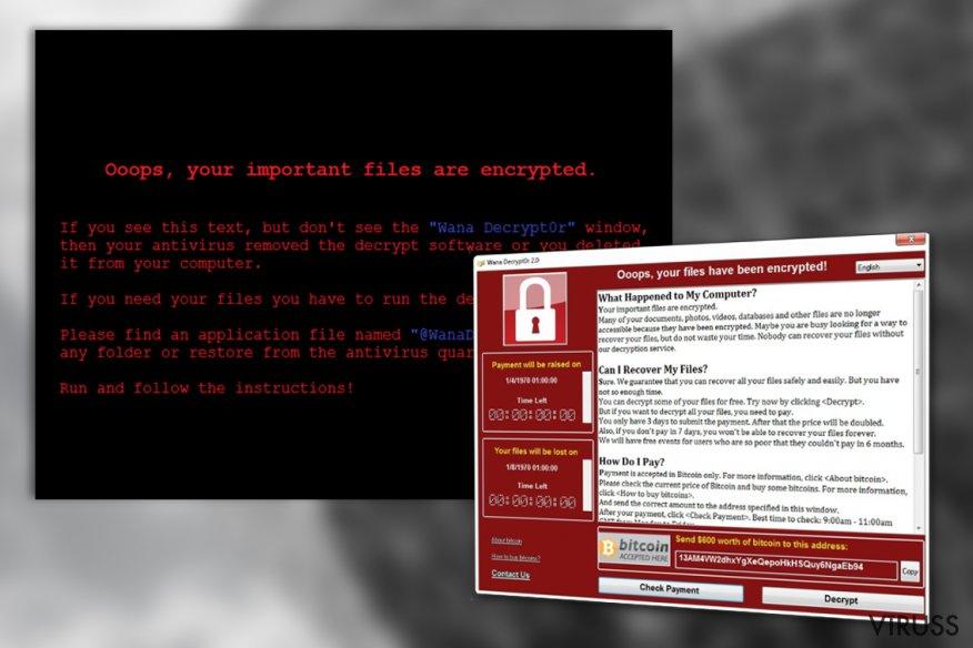 WanaCrypt0r virus
