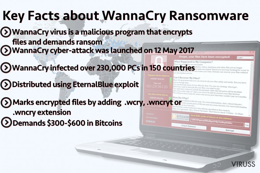 Main facts about WannaCry ransomware
