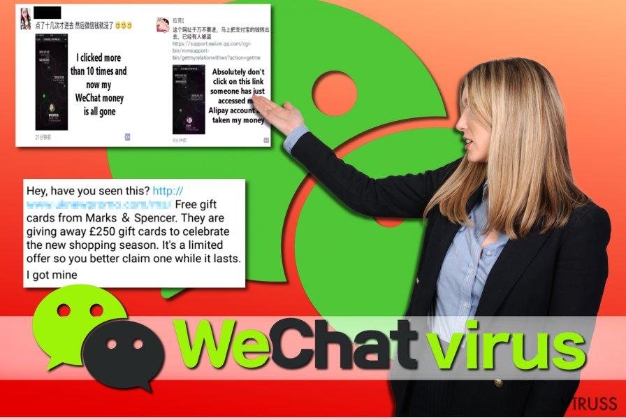 WeChat vīrusa piemēri
